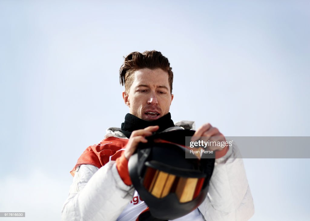 Shaun White of the United States reacts after his run during the Snowboard Men's Halfpipe Qualification on day four of the PyeongChang 2018 Winter Olympic Games at Phoenix Snow Park on February 13, 2018 in Pyeongchang-gun, South Korea.