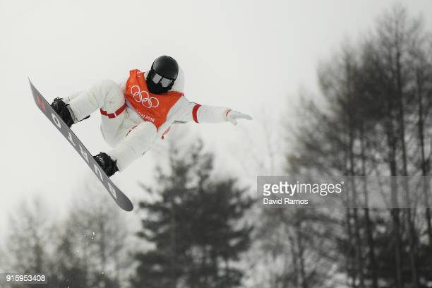 Shaun White of the United States trains ahead of the PyeongChang 2018 Winter Olympic Games at on February 9 2018 in Pyeongchanggun South Korea