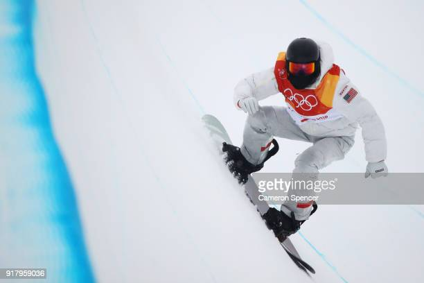 Shaun White of the United States warms up ahead of the Snowboard Men's Halfpipe Final on day five of the PyeongChang 2018 Winter Olympics at Phoenix...