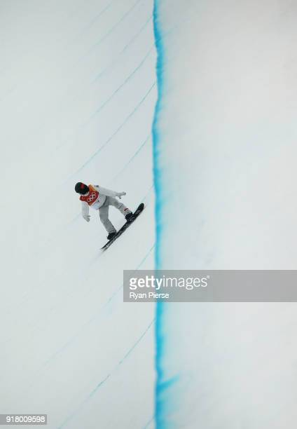 Shaun White of United States competes during the Snowboard Men's Halfpipe Final on day five of the PyeongChang 2018 Winter Olympics at Phoenix Snow...