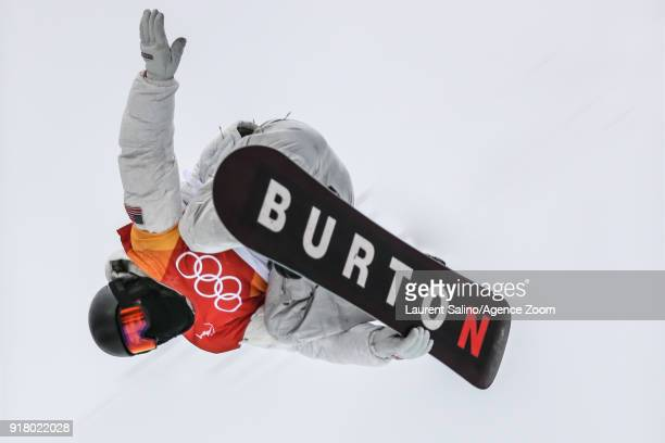 Shaun White of USA takes 1st place during the Snowboarding Men's Halfpipe Finals at Pheonix Snow Park on February 14 2018 in Pyeongchanggun South...