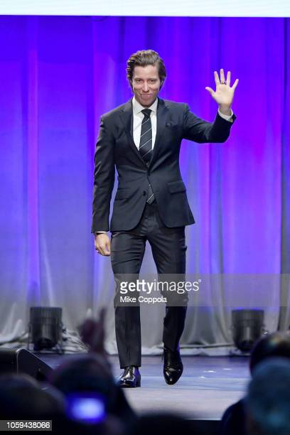 Shaun White speaks onstage during the Gold Medal Gala at The Ziegfeld Ballroom on October 25 2018 in New York City