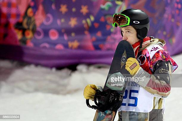Shaun White USA snowboard Halfpipe men Männer in Rosa Khutor Extreme Park olympic winter games 2014 sochi olympische Spiele winterspiele in Sochi...