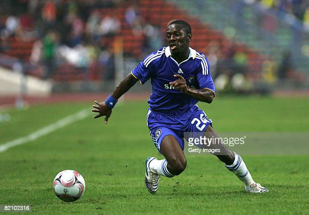 Shaun Wright Philips of Chelsea in action during the preseason friendly match between Chelsea and a Malaysian Select XI at the Shah Alam Stadium on...