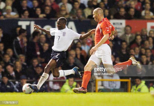 Shaun WrightPhillips England v Poland FIFA World Cup Europe group 6 qualifier at Old Trafford 12th October 2005