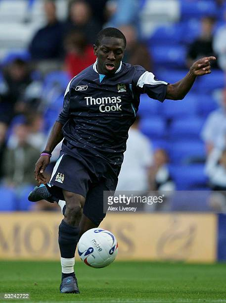 Shaun WrightPhillips of Manchester City during the preseason friendly match between Tranmere Rovers and Manchester City at Prenton Park on July 15...