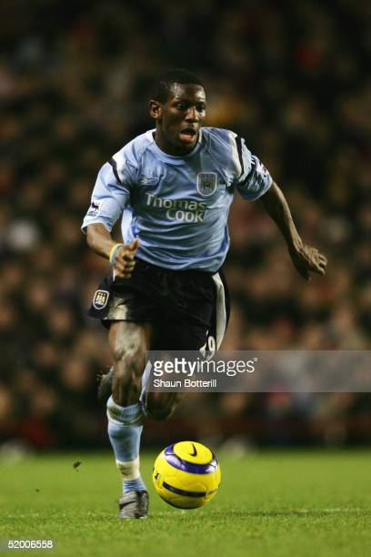 Shaun WrightPhillips of Manchester City in action during the Barclays Premiership match between Arsenal and Manchester City at Highbury on January 4...