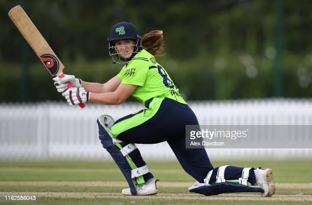 Shauna Kavanagh of Ireland bats during the International Friendly match between England Women's Academy and Ireland at Millfield School on July 17...