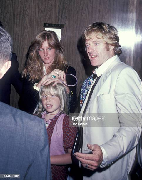 Shauna Redford Amy Redford and Robert Redford during Robert Redford and Family After Son's Graduation From Dalton Prep June 6 1980 at Outside the...