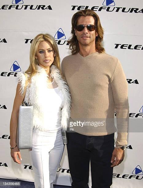 Shauna Reed and Lorenzo Lamas during Telefutura Network Launching at Telefutura Studios in Los Angeles, California, United States.