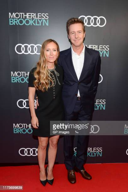 Shauna Robertson and director Edward Norton attend the Audi Canada prescreening event for Motherless Brooklyn during the Toronto International Film...
