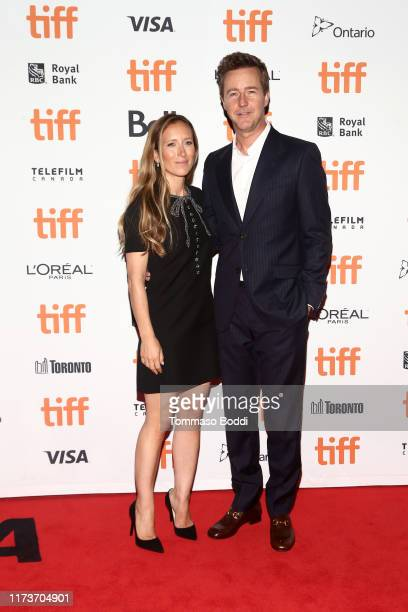 Shauna Robertson and director Edward Norton attend the Motherless Brooklyn premiere during the 2019 Toronto International Film Festival at Princess...