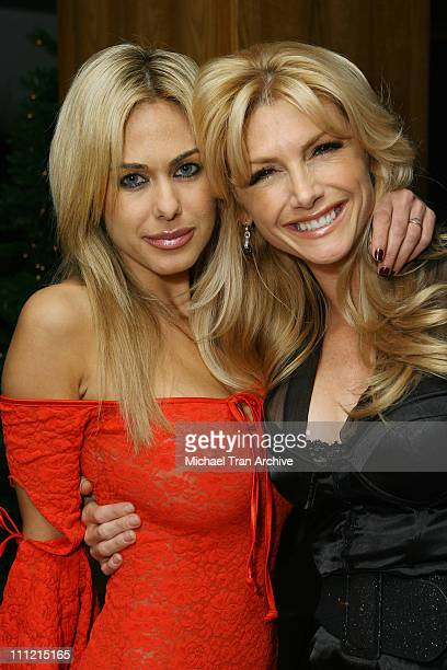 Shauna Sand and Brande Roderick during 1st Annual Benchwarmer Trading Cards' Holiday Party and Toy Drive at Area in Los Angeles California United...