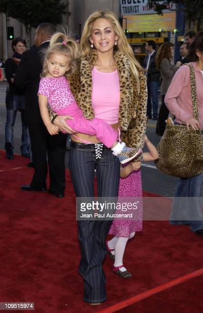Shauna Sand and daughters during Kangaroo Jack Premiere Los Angeles at Chinese Theatre in Hollywood California United States