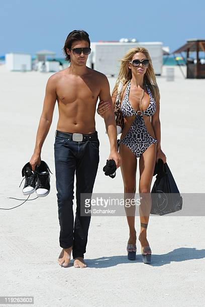 Shauna Sand and husband Laurent Homburger are sighted on July 14 2011 in Miami Florida