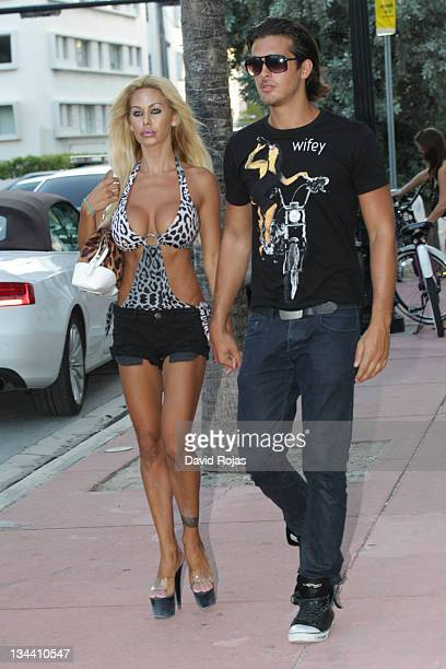 Shauna Sand and Laurent Homburger are seen arriving at MB Fashion Week Swim on July 14 2011 in Miami Florida