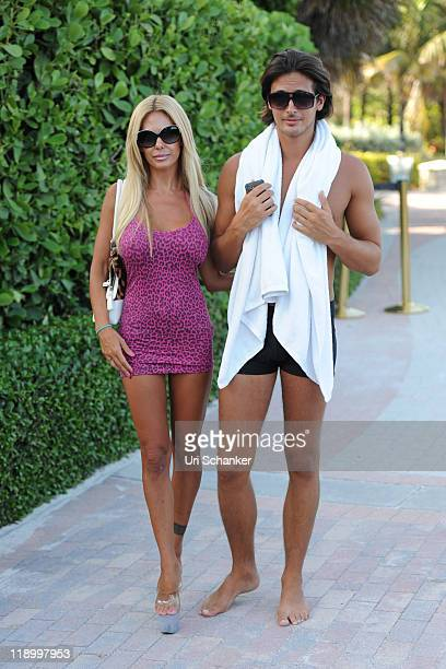 Shauna Sand and Laurent Homburger are sighted on July 13 2011 in Miami Florida