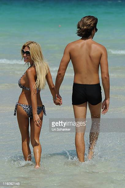 Shauna Sand and Laurent Homburger are sighted on July 14 2011 in Miami Florida