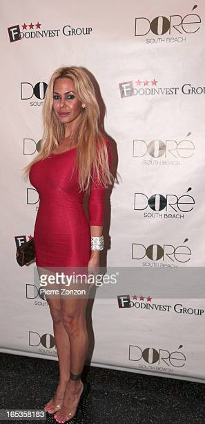Shauna Sand at Dore Restaurant and Lounge on April 3 2013 in Miami Beach Florida