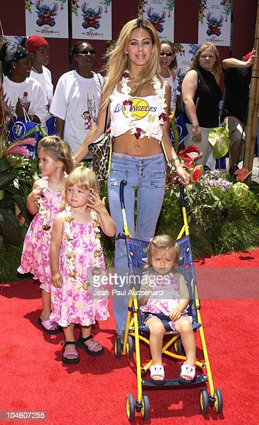 Shauna Sand daughters during Lilo and Stitch Premiere at El Capitan Theater in Hollywood California United States
