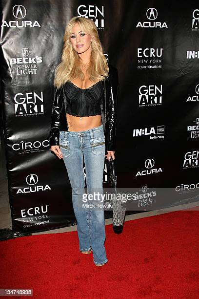 Shauna Sand during Gen Art and Acura Present The New Garde Fashion Show Arrivals at Park Plaza Hotel in Los Angeles California United States