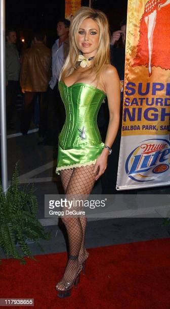 Shauna Sand during Hugh Hefner and Playboy Host Playboy's Fourth Annual Super Saturday Night Arrivals at The House of Hospitality in San Diego...