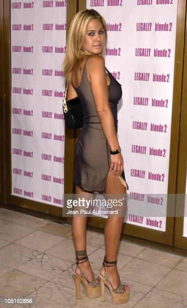 "Shauna Sand during ""Legally Blonde 2: Red, White & Blonde"" Los Angeles Screening at Mann National Theatre in Westwood, California, United States."