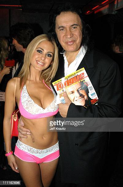 Shauna Sand Gene Simmons during Gene Simmons' Tongue Magazine Launch Party at Key Club in West Hollywood CA United States
