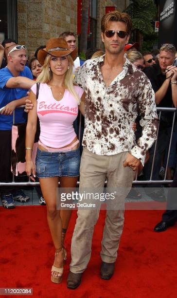 Shauna Sand Lorenzo Lamas during American Idol Season 1 Finale Results Show Arrivals at Kodak Theater in Hollywood California United States