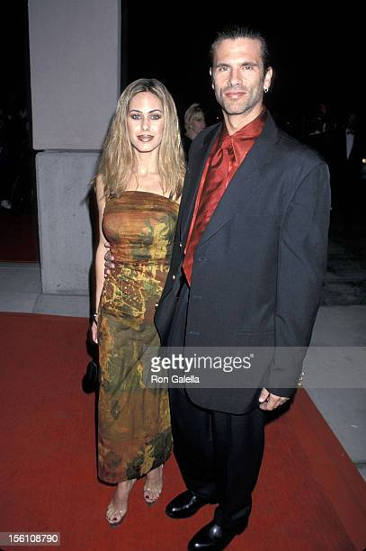 Shauna Sands and Lorenzo Lamas during 2000 Annual International Film Festival Awards Gala at Palm Springs Convention Center in Palm Springs...