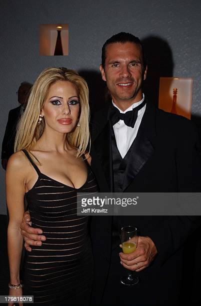Shauna Sands and Lorenzo Lamas during 2002 Miramax Post Golden Globe Party in Beverly Hills California United States