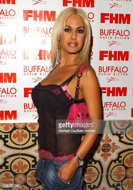 Shauna Sands during 2004 FHM Buffalo Jeans Sponsor Party at The Spider Club in Hollywood California United States