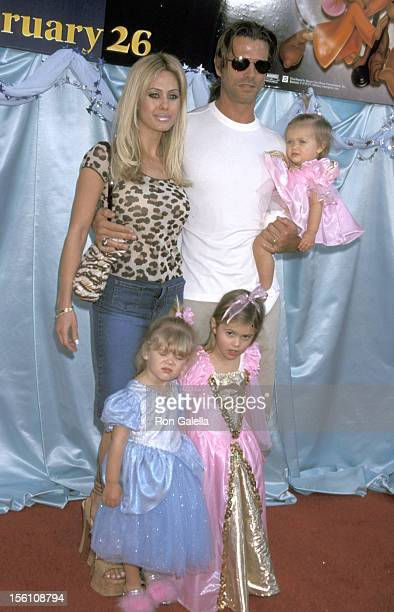 Shauna Sands Lorenzo Lamas and Daughters during 'Cinderella II Dreams Come True' World Premiere at El Capitan Theatre in Hollywood California United...