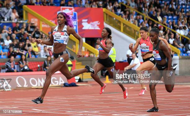 Shaunae MillerUibo of Bahamas wins the Women's 200m final during the Muller Grand Prix Birmingham IAAF Diamond League event at Alexander Stadium on...