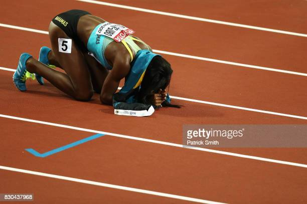 Shaunae MillerUibo of the Bahamas bronze reacts after the Women's 200 metres during day eight of the 16th IAAF World Athletics Championships London...