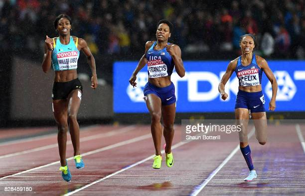 Shaunae MillerUibo of the Bahamas Phyllis Francis of the United States and Allyson Felix of the United States compete in the Women's 400 metres final...