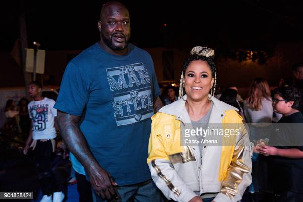 Shaunie O'Neal and Shaquille O'Neal celebrate Shareef O'Neal's 18th birthday party at West Coast Customs on January 13 2018 in Burbank California