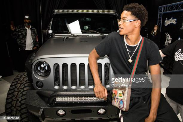 Shaunie O'Neal and Shaquille O'Neal gift Shareef O'Neal a custom car for his 18th birthday party at West Coast Customs on January 13 2018 in Burbank...
