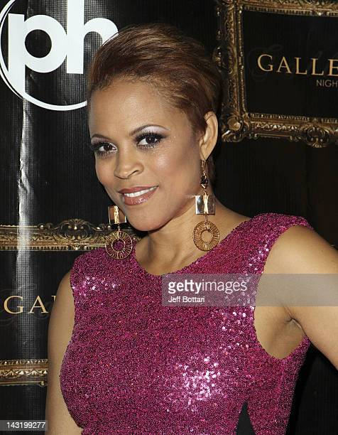 Shaunie O'Neal arrives at the Paris Las Vegas for an appearance at the Gallery Nightclub at the Planet Hollywood Resort Casino on April 20 2012 in...