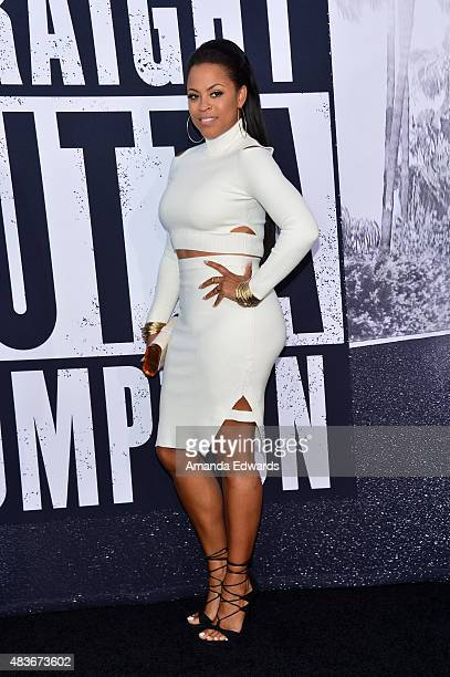 Shaunie O'Neal arrives at the world premiere of Universal Pictures and Legendary Pictures' 'Straight Outta Compton' at the Microsoft Theate on August...