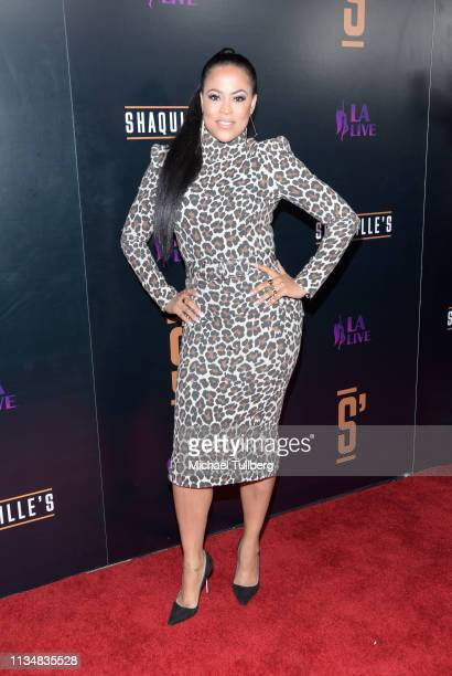 Shaunie O'Neal attends the grand opening of Shaquille's At LA Live at LA Live on March 09 2019 in Los Angeles California