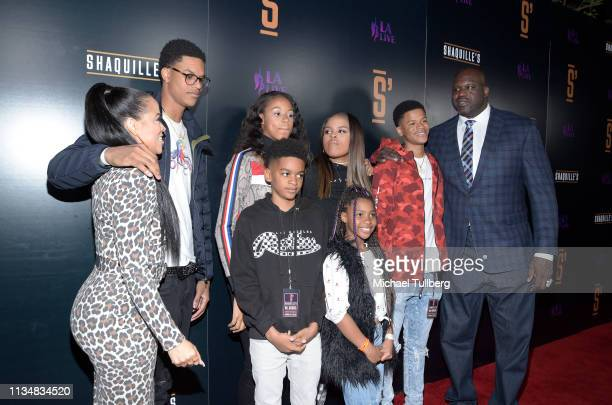 Shaunie O'Neal NBA legend Shaquille O'Neal and family attend the grand opening of Shaquille's At LA Live at LA Live on March 09 2019 in Los Angeles...