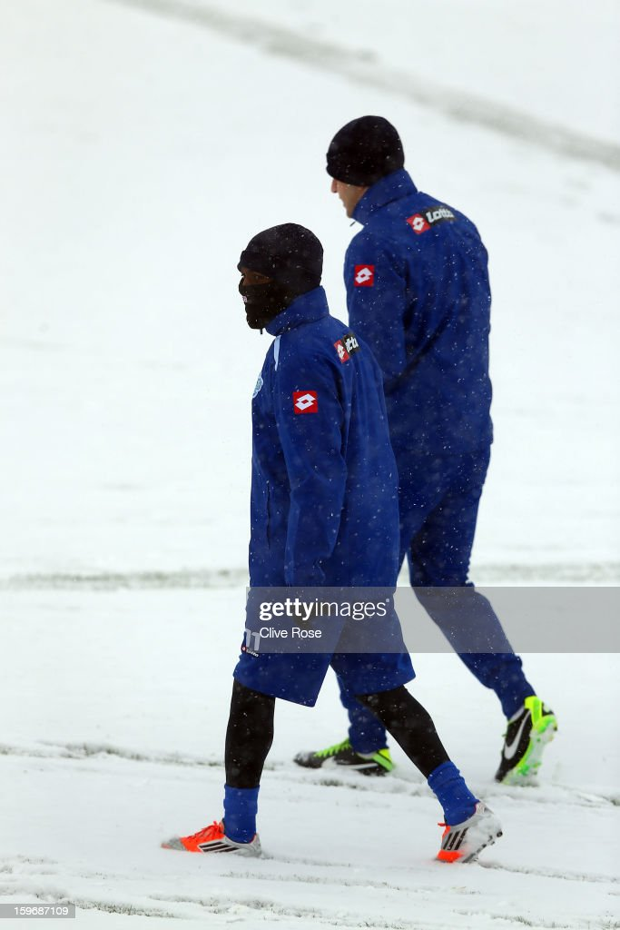 Shaun-Wright Phillips of Queens Park Rangers looks on during a training session on January 18, 2013 in Harlington, England.
