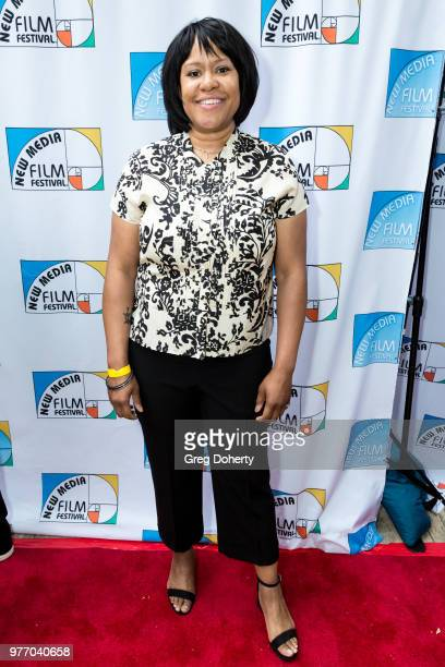 Shaunya Boddie attends the 9th Annual New Media Film Festival at James Bridges Theater on June 16 2018 in Los Angeles California