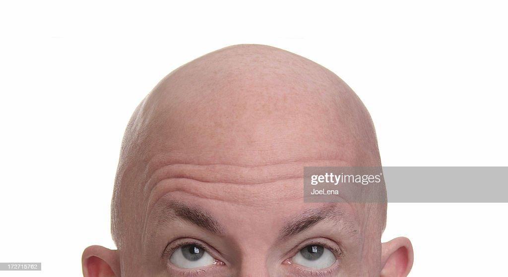 Cabeza afeitada : Foto de stock