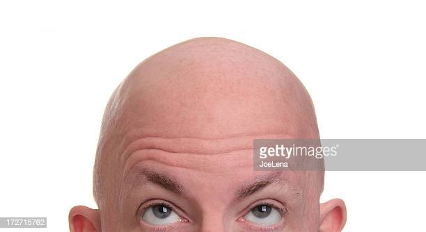 shaved head - completely bald stock pictures, royalty-free photos & images