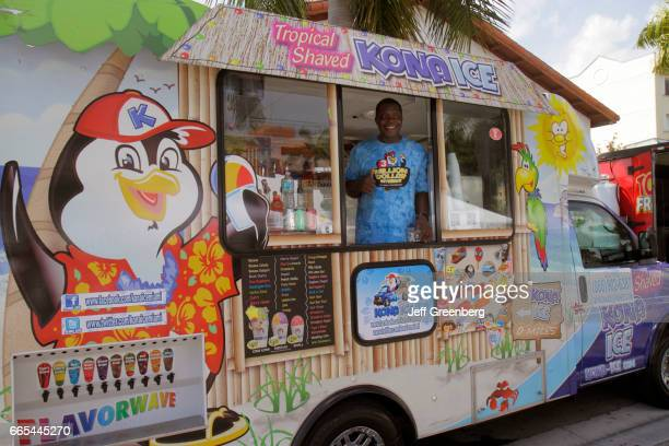A shaved ice food truck at the Art on Palm fair