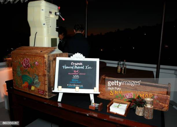 Shaved ice is served at the 'I Love You America' Premiere Party at Chateau Marmont on October 11 2017 in Los Angeles California