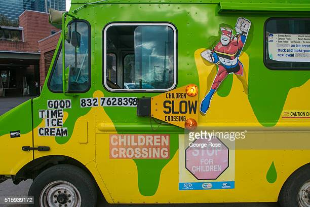 A shaved ice truck is parked outside the George R Brown Covention Center on February 28 2016 in Houston TX Despite the plunge in oil prices Houston...