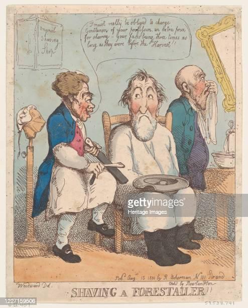 Shaving a Forestaller August 15 1800 Artist Thomas Rowlandson